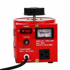 Variac Transformer Variable 300va Ac Voltage Regulator 3 Amp 0130v Us Plug