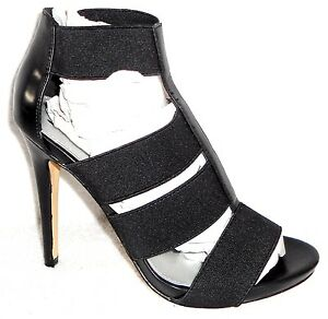 7ab76e84406 NEW DIBA LONDON SERENA BLACK FAUX LEATHER AND STRETCH HIGH HEEL ...