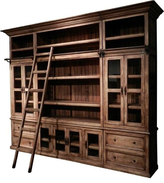 restoration hardware bookshelf with ladder 3