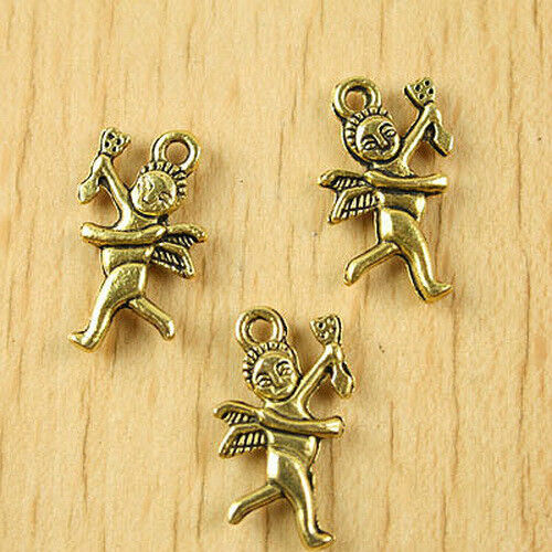 24pcs dark gold-tone cupid  pendant charm h1840