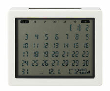 MoMa MUJI table clock calendar
