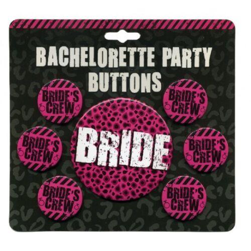BRIDE/'S CREW Bachelorette Party Buttons NEW