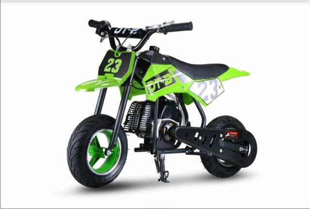 Youth Kids Dirt Bike Green Gas Powered Motor 51 CC 2 Stroke Off Road Ride  On New