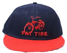 Fat Tire Red Bicycle Hat Ball Cap NEW BELGIUM BREWING Navy & Red