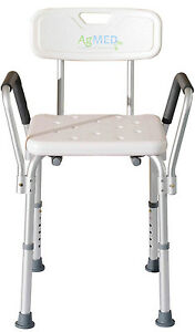 Sedia per doccia alluminio leggero antiscivolo ausilio - Sedia da bagno per disabili ...