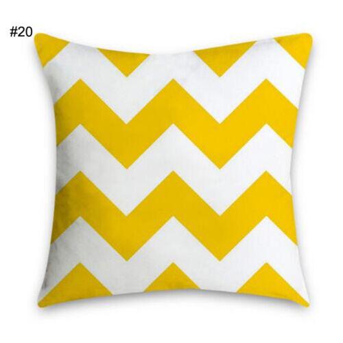Pillow Case Yellow Polyester Sofa Car Waist Throw Cushion Cover Home Decoration