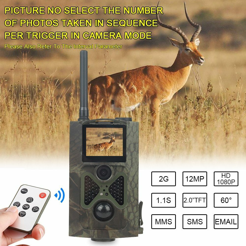 Hunting Camera  GSM 12MP 1080P Photo Traps Night Vision Wildlife Infrared Trail  store sale outlet