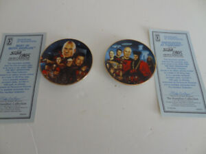 Star-Trek-Next-Generation-Mini-Plates-BEST-OF-BOTH-WORLDS-amp-ENCOUNTER-AT-FARPOINT