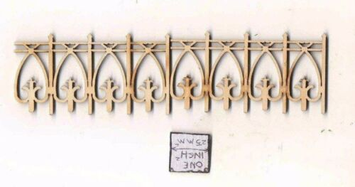 Fence Victorian 171 4 pc unfinished wood dollhouse 1//12 scale Stairs USA