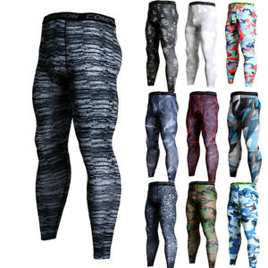 Men-039-s-Compression-Pants-Running-Basketball-Gym-Long-Tights-Wicking-Camo-Dri-fit