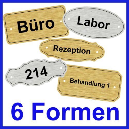 Türschild für Praxis Kanzlei Hotel Büro Gravur inkl 6 Formen /& 4 Farben