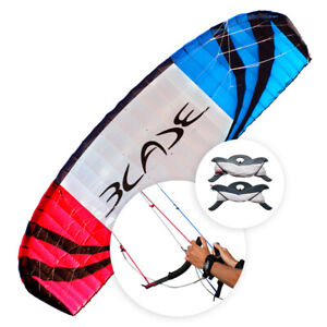 Flexifoil 4,9m² Blade 2021 Sport Traction Power Kite met lijnen en handvatten