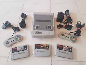Super-Nintendo-SNES-Konsole-Mario-Allstars-Yoshis-Island-2-Donkey-Kong-Country-2