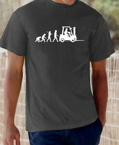 Evolution of Man, Forklift truck driver t-shirt