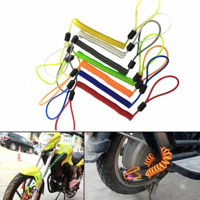 Anti Theft Alarming MotorBike Brake Disc Lock Security Reminder Cable Kit 120cm
