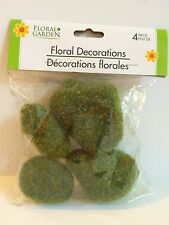 Decorative Moss Spheres Stones Decor 4 per package Floral Craft Supplies