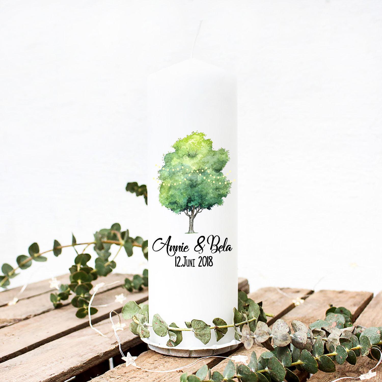 Hochzeitskerze Kerze Kerze Kerze Geschenk Hochzeit Trauung mit Lebensbaum Namen & Datum wk6 | Neuheit Spielzeug  | New Listing  6d42c2