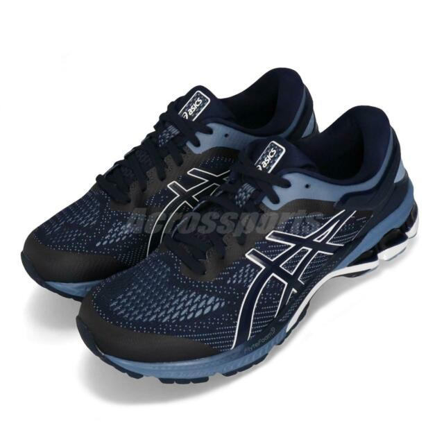 1db89bfb0a Asics Gel-Kayano 26 4E Extra Wide Midnight Blue Men Running Shoes  1011A536-400