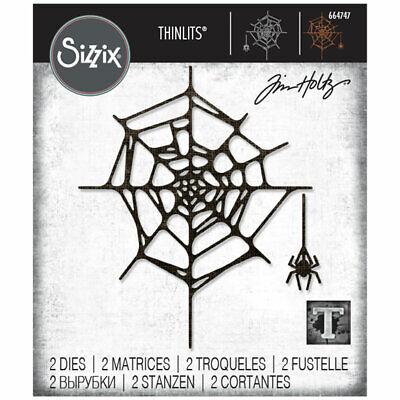 Sizzix Set 2PK Spider Web by 664747 Schneideschneidset Thinlits Spinnennetz von Tim Holtz Einheitsgr/ö/ße 2er Pack