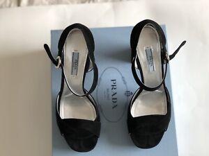 prada suede platform sandals Size 40 | eBay