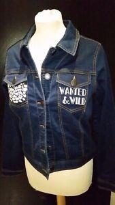 9e544122e8e6d Image is loading Firetrap-Ladies-Denim-Embroidered-Jacket-Front-Button-Jeans -