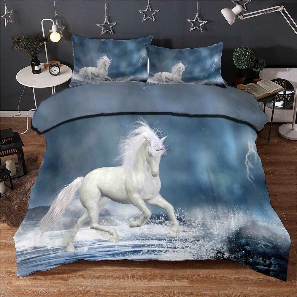 Horse Wave Hoofs 3D Druckening Duvet Quilt Will Startseites Pillow Case Bettding Sets