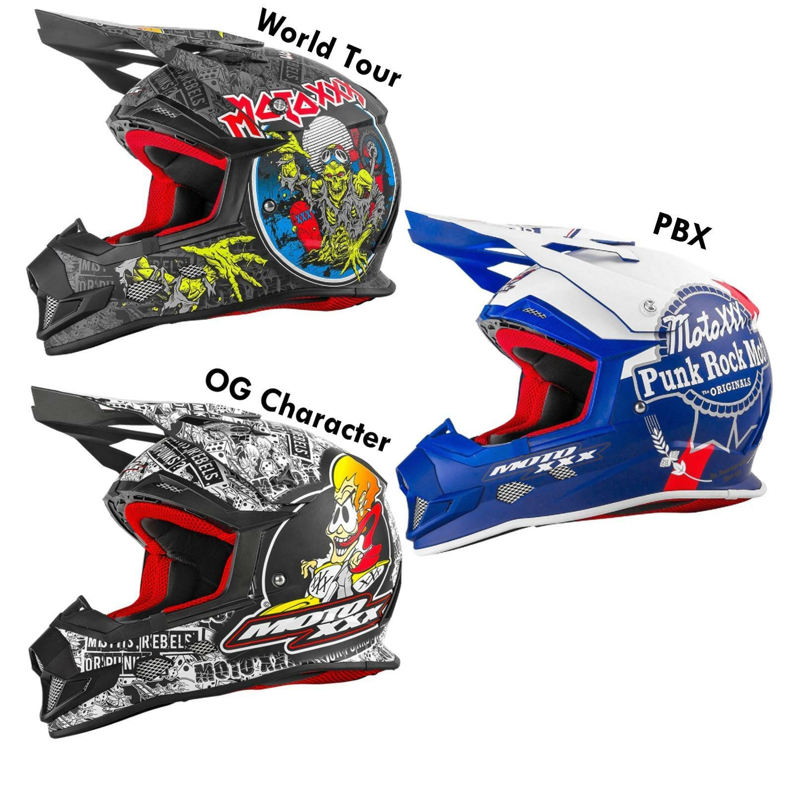 O 'Neal Moto XXX vetroresina casco Nero Rosso Multi MX DH MOTO CROSS ENDURO OFFROAD