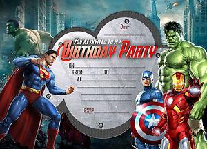 Detalles De Invitaciones De Fiesta De Cumpleaños Para Niños Niñas Gratis Sobres X 8 Tarjetas Set Ver Título Original