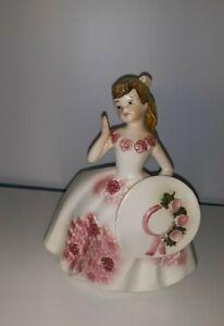 Lefton-Porcelain-Southern-Belle-Planter-Series-7-034-Japan-3138-Vintage-1950-039-s