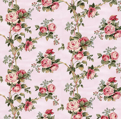 Dolls House Wallpaper 1/12th 1/24th scale Pink Quality Paper #58