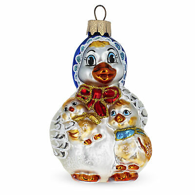 Mother Goose Mouth Blown Glass Christmas Ornament 4.1 ...