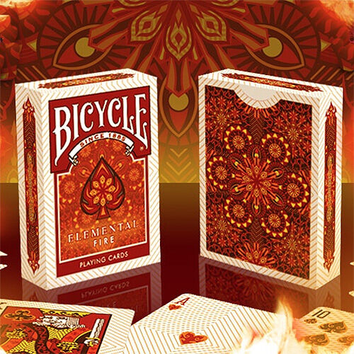 Carte Bicycle Elemental Fire