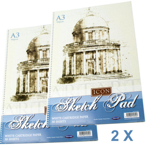 2 X A3 SKETCH PAD SPIRAL BOUND 30 SHEETS ART SKETCHING PAPER SKETCH BOOK