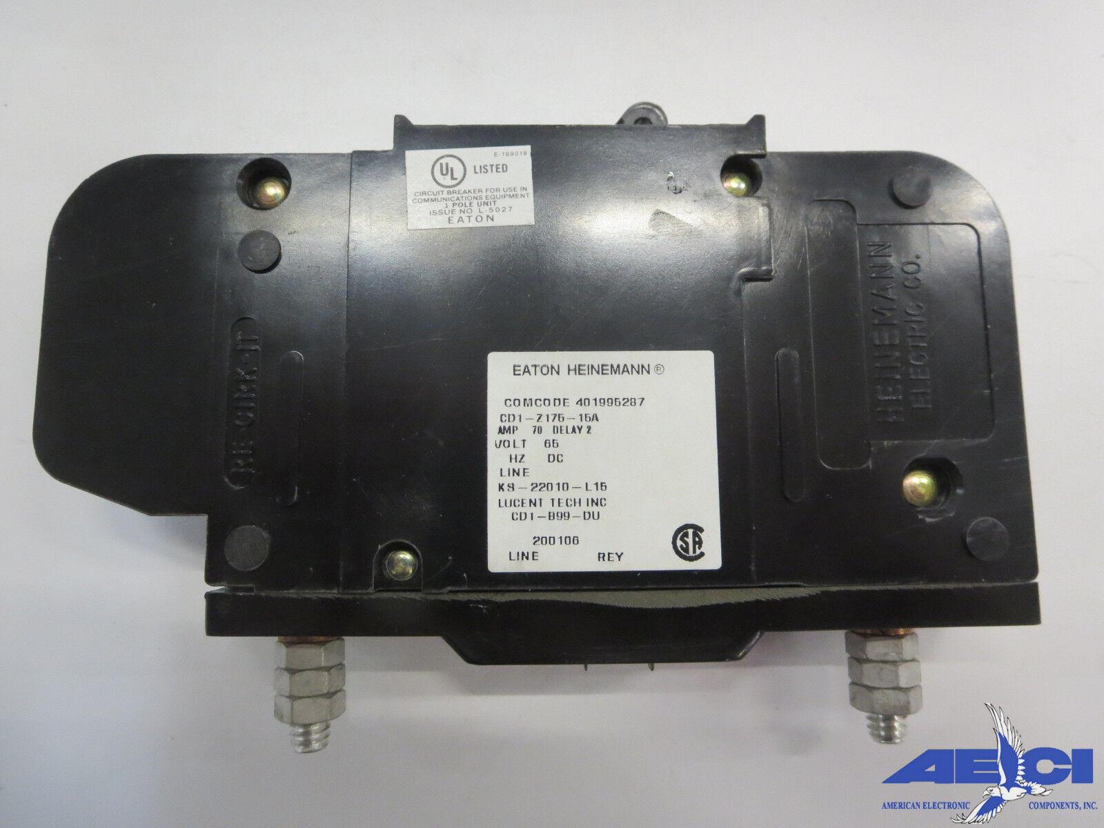 Used Heinemann Eaton KD1-15.0 Amp - Lot of 2