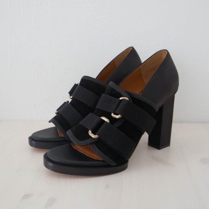 Hof115  & Other Stories sandalias con con sandalias el apartado de cuero bloque heel sandals 41 UK 8 ca1af6