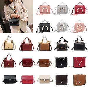 Women-Leather-Handbag-Purse-Shoulder-Messenger-Crossbody-PU-Satchel-Tote-Bag