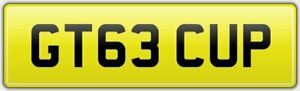 GT63-CUP-RARE-PRIVATE-CAR-REG-NUMBER-PLATE-FEES-PAID-FOR-PORSCHE-GT3-CUP-MODEL