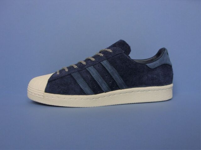 5ca1c63bff6d ADIDAS ORIGINALS SUPERSTAR 80 S MENS TRAINERS SUEDE NAVY BLUE UK SIZE 6 - 11