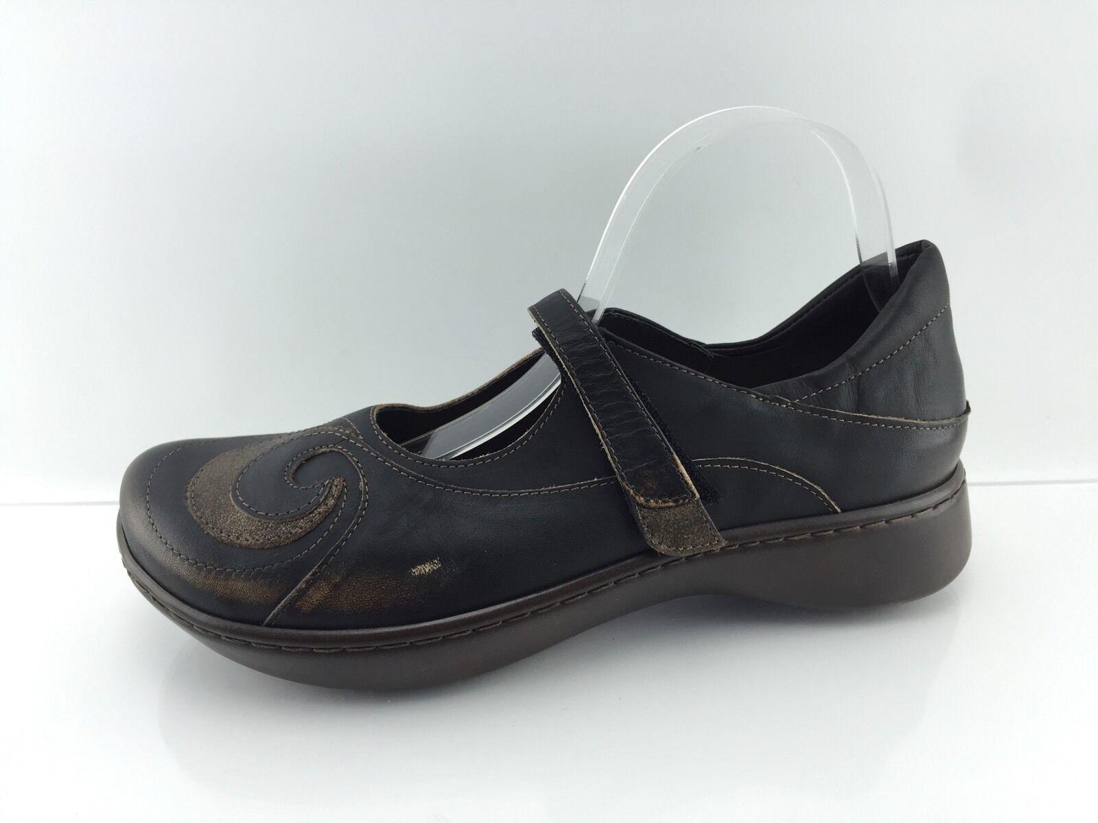 186 Naot 'Sea' Women's Bronze-Dark Brown off Black shoes 11
