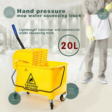 Mini 5 Gallon Mop Bucket Withwringer Combo Commercial Rolling Cleaning Cart 20l
