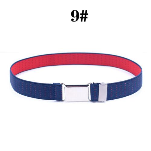 Child Kids Adjustable Waist Belt Waistband Stripe Belts Stretch Elastic