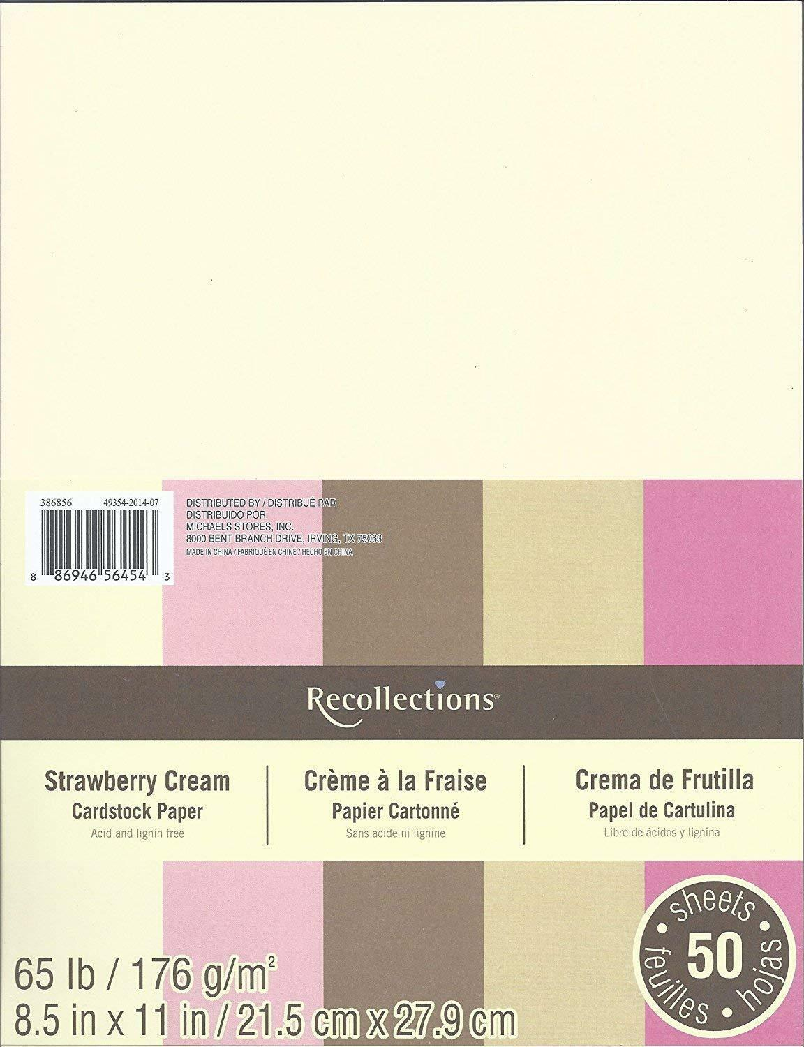 Recollections Cardstock Paper 8 12 X 11 50 Sheets 65 Lb