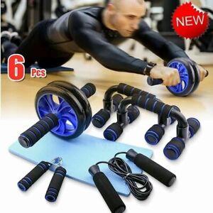Ab Machine Abdominal Workout Exerciser Wheel Plate Trainer /& Hand Gripper