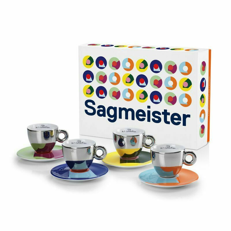 Illy Art Collection 4 Cappuccino Cups Stefan Sagmeister Limited Edition 23389 Ebay
