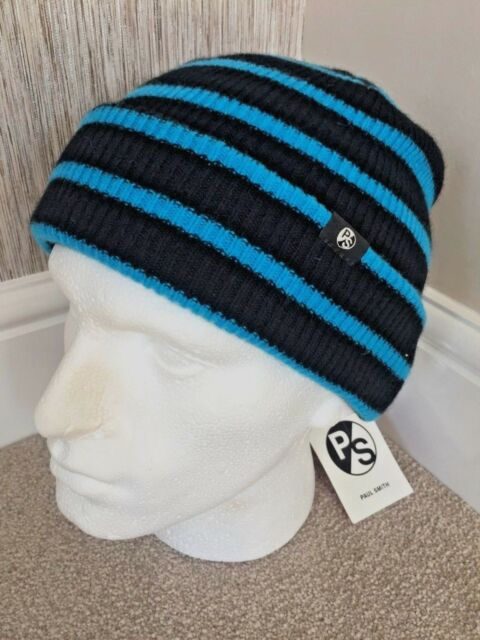 c644aadbc42 PS Paul Smith Neon Stripe 100 Lambswool Beanie Hat for sale online ...