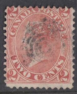Canada: 1864 2C rose-red SG 44 USATO