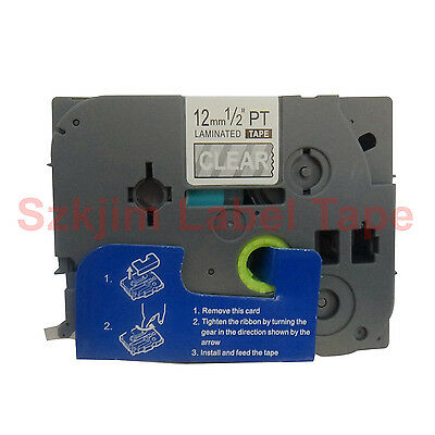 TZ-135 White on clear Label Tape Compatible for Brother P-touch12mm 8m TZe-135