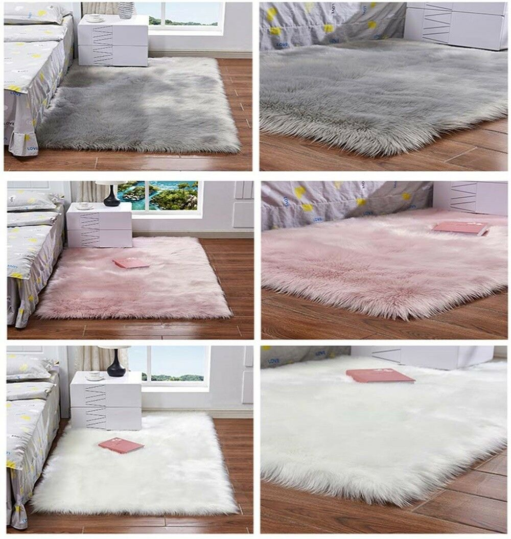 Area Rugs Plain Fluffy Round Pad Carpet