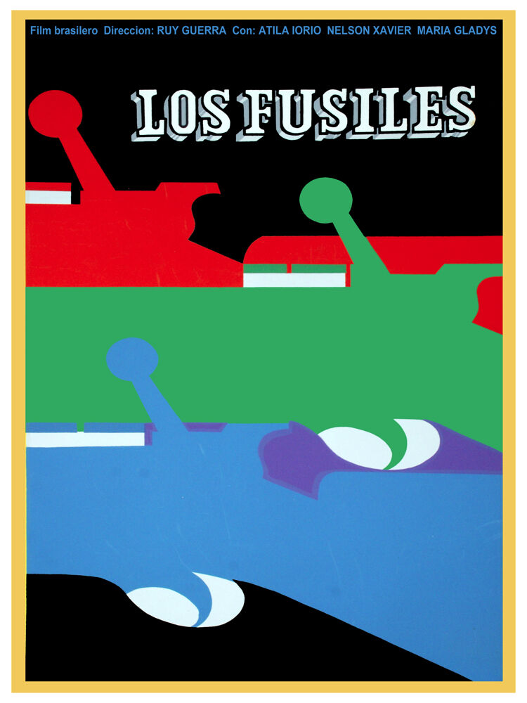 Los fusiles the Rifles Movie POSTER.Graphic Design.Guns.Wall Art Decoration.3630