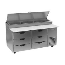 Beverage Air Dpd67hc 6 67 Pizza Prep Table Refrigerated Counter